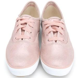 Keds Rose Gold Suede Sneakers NWOT 9 1/2 Womens